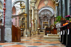 San Bartolomeo church at Venice, Italy. The church was supposedly founded in the year 864. The church at the site was renovated in 1330 , consecrated in 1351 Royalty Free Stock Photo