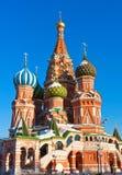 San Basil Cathedral a Mosca fotografie stock libere da diritti