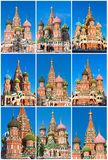 San Basil Cathedral a Mosca fotografia stock libera da diritti
