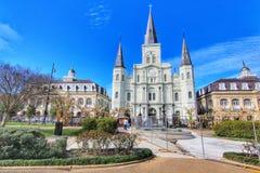 San bello Louis Cathedral nel quartiere francese, New Orleans Luisiana fotografia stock libera da diritti