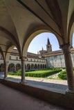 San Benedetto PO - cloître de l'abbaye Photo libre de droits