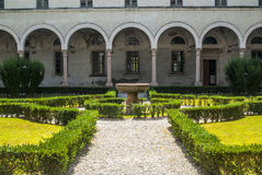 San Benedetto Po - Cloister of the abbey Stock Image