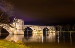 San-Benezet di Pont a Avignone, un sito del patrimonio mondiale Fotografia Stock Libera da Diritti