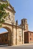 SAN Benito Arch σε Sahagun, τρόπος του ST James, Leon, Ισπανία Στοκ φωτογραφίες με δικαίωμα ελεύθερης χρήσης