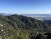 San Bernadino Mountains overlooking Inland Empire Southern California Royalty Free Stock Photo