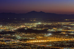 San Bernardino à partir du dessus Photos stock