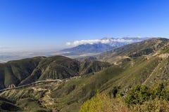 San Bernardino au temps de coucher du soleil Images libres de droits