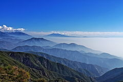 San Bernardino - Big Bear - Palm Springsbergskedja Arkivbilder