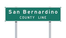 San Bernardino County Line road sign stock photo