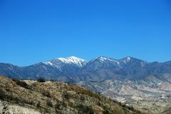 San Bernardino Mountain Chain Scene photos stock