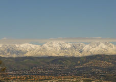 San Bernardino Mountains in de Winter Stock Fotografie