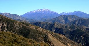 San Bernardino Mountains Panorama. Panoramic view of the San Bernardino Mountains, southern California Stock Photography
