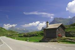 San Bernardino Pass in Zwitserse Alpen Stock Foto's