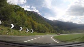 San Bernardino, Suiza Punto de vista del conductor En la autopista