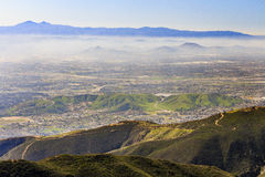 San Bernardino at sunset time. Sight seeing over San Bernardino at afternoon time Stock Image