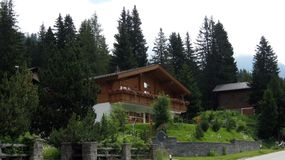 San Bernardino village. Southern Swiss Alps stock photography
