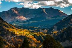 San Bernardo Mountain Fall Colors Colorado landskap Arkivfoto