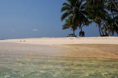 San Blas beach palm trees Royalty Free Stock Images