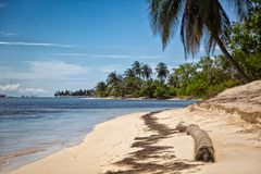 Blue sea in San Blas island. San Blas Island Masargandup on the Caribbean side of  Panama Stock Image