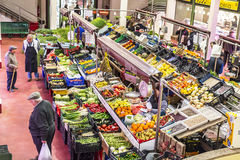 San Blas Market in Logroño. Spain. Royalty Free Stock Photo