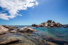 San Bonifacio's sea stones island Royalty Free Stock Images