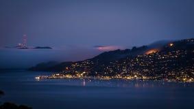 San brumeux Francisco Bay photographie stock libre de droits