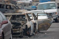 San Bruno Explosion Aftermath Royalty-vrije Stock Afbeeldingen