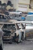 San Bruno Explosion Aftermath Royalty-vrije Stock Fotografie