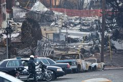 San Bruno Explosion Aftermath Royalty Free Stock Image
