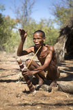 San bushman. Telling a story Royalty Free Stock Photography