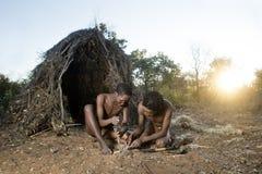 San Bushmen. Displaying skills Stock Images