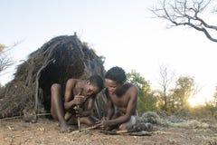 San Bushmen. Displaying skills Stock Image