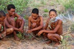 San Bushmen tribe Royalty Free Stock Photos