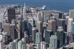 San céntrico Francisco City View Aerial Foto de archivo libre de regalías