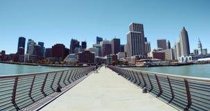 San céntrico Francisco Cityscape: Edificios y rascacielos almacen de metraje de vídeo