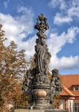 San Cajetan, Charles Bridge, Praga, repubblica Ceca fotografia stock