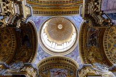 San Carlo al Corso a Roma Fotografie Stock Libere da Diritti