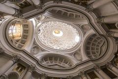 San Carlo alleQuattro Fontane kyrka, Rome, Italien Fotografering för Bildbyråer