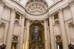 San Carlo alleQuattro Fontane kyrka, Rome, Italien Arkivbilder