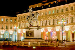 San Carlo square, Turin Royalty Free Stock Photography