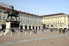 San Carlo Square in Turin Stock Photo