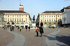 San Carlo Square in Turin Stock Photography