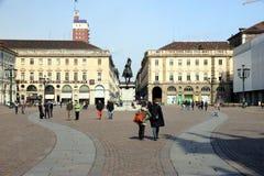 San Carlo Square in Turin Stock Photography