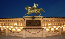 San Carlo square in Turin, IT Stock Image