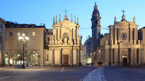 San Carlo square in Turin, Italy Royalty Free Stock Photo