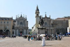 San- Carloquadrat, Turin lizenzfreies stockfoto