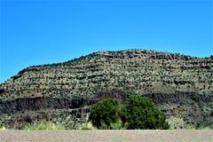 San Carlos Apache Indian Reservation, Gila County, Arizona, Förenta staterna royaltyfri bild