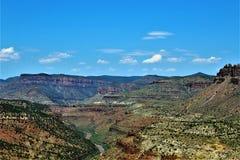 San Carlos Apache Indian Reservation, Gila County, Arizona, Förenta staterna royaltyfria foton