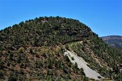 San Carlos Apache Indian Reservation, Gila County, Arizona, Förenta staterna arkivbild