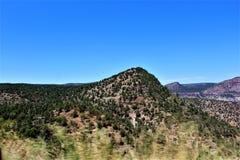 San Carlos Apache Indian Reservation, Gila County, Arizona, Förenta staterna arkivfoto